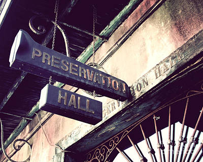 Preservation Hall Art Print by Jillian Audrey Photography