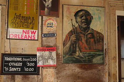 Photograph - Preservation Hall Wall by Bradford Martin