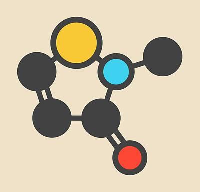 Atom Photograph - Preservative Molecule by Molekuul