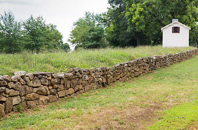 Photograph - Preserved Section Of Wall From The Battle Of Fredericksburg by John M Bailey