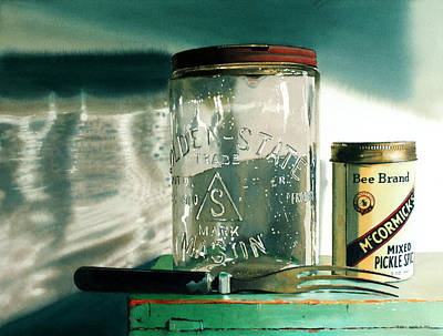 Canning Jars Painting - Preserving by Denny Bond