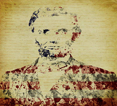Lincoln Assassination Digital Art - President Abraham Lincoln by Brian Reaves