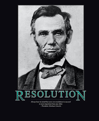 President Abraham Lincoln Resolution  Art Print by Retro Images Archive