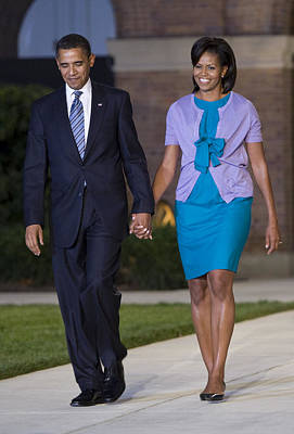 Michelle Obama Photograph - President And First Lady by JP Tripp