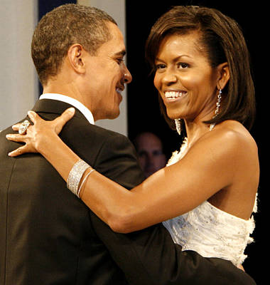 President And Michelle Obama Print by Official Government Photograph