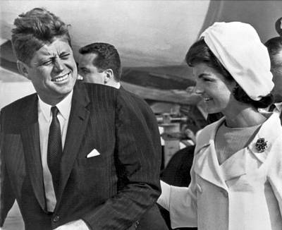 President And Mrs. Kennedy Art Print by Underwood Archives