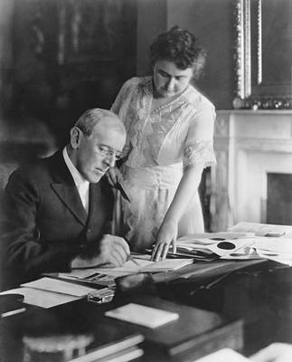 Photograph - President And Mrs. Woodrow Wilson by Underwood Archives