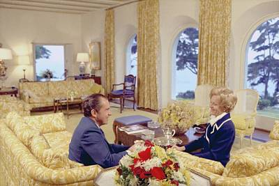 President And Pat Nixon Sitting Art Print