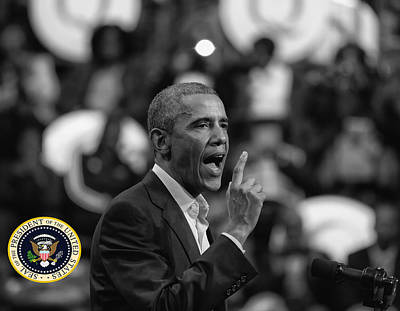 Photograph - President Barack Obama by Jerome Lynch