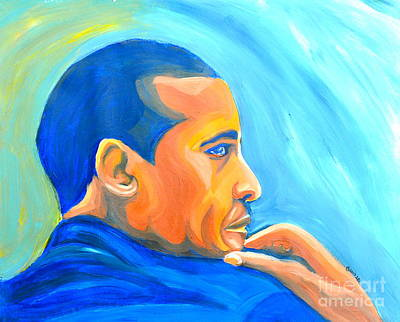President Barack Obama Art Print by LLaura Burge