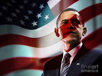 President Barack Obama Art Print by Marvin Blaine