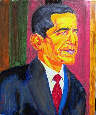 Barack Obama Oil Painting - President Barack Obama Potus by Donald William