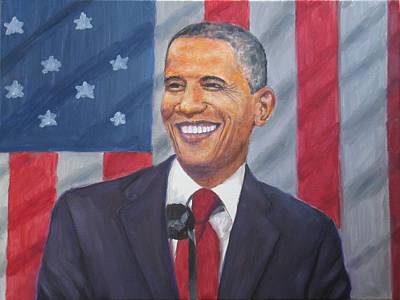 Painting - President Barak Obama by Samuel Daffa