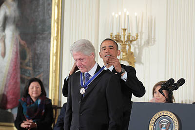East Room Of The White House Photograph - President Bill Clinton Medal Of Freedom by Douglas Adams