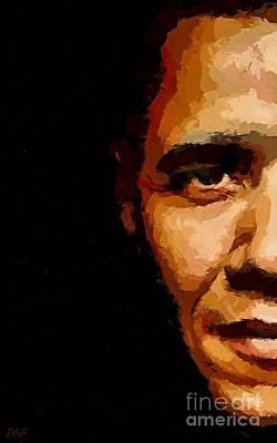 Obama Painting - President by Dragica  Micki Fortuna