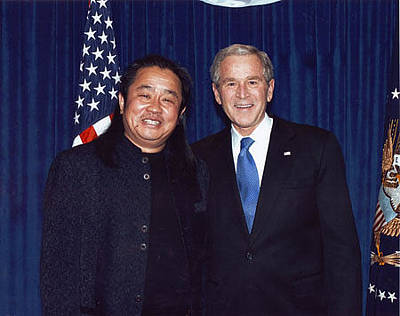 Photograph - President George Bush by Cao Yong