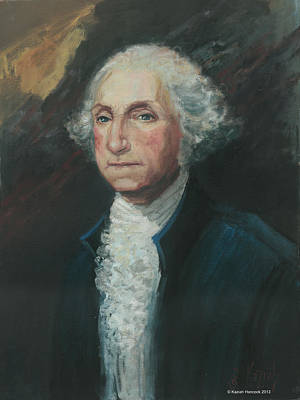 President George Washington Art Print by Kaziah Hancock