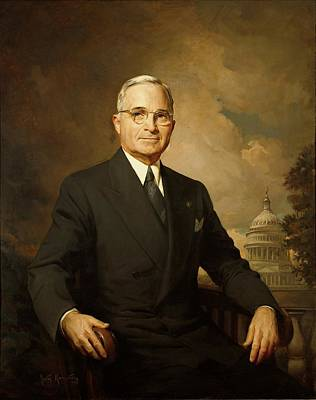 Senate Painting - President Harry S. Truman By Greta Kempton by Movie Poster Prints