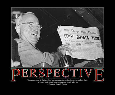 President Harry S. Truman Perspective  Art Print by Retro Images Archive