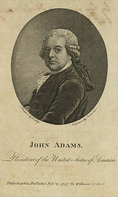 Presidents Painting - President  John Adams by Celestial Images