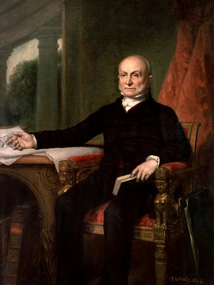 Healy Painting - President John Quincy Adams  by War Is Hell Store