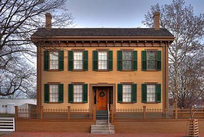 Politicians Royalty-Free and Rights-Managed Images - President Lincoln Home Springfield Illinois by Steve Gadomski