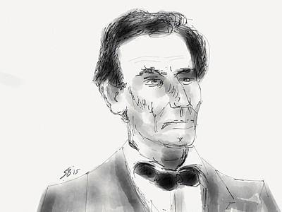 Digital Art - President Lincoln by Stacy C Bottoms