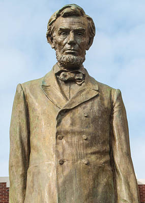 President Lincoln Statue Art Print by Tikvah's Hope