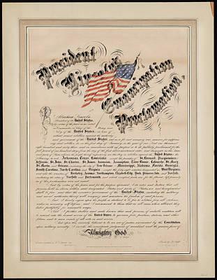 President Lincolns Emancipation Proclamation 2 Art Print by MotionAge Designs