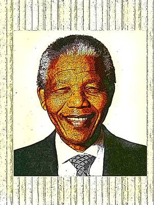 Digital Art - President Mandela by Karen Buford