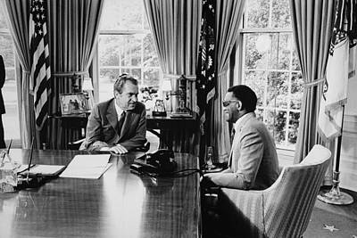 Blue Dick Photograph - President Nixon Meeting With Ray by Everett
