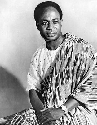 1957 Photograph - President Nkrumah Of Ghana. by Underwood Archives