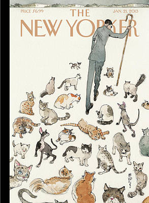 President Obama Attempts To Herd Cats Art Print by Barry Blitt