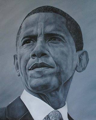 Healy Painting - President Obama by David Dunne