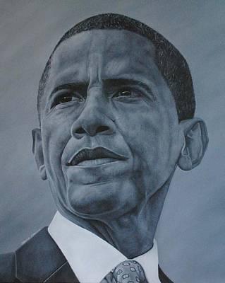 President Obama Print by David Dunne