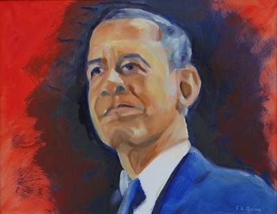 Commander -in-chief Painting - President Obama by Frank Quinn