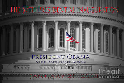 President Obama Inauguration Print by Jost Houk