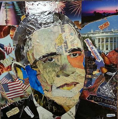 First Black President Painting - President Obama by James Haddock