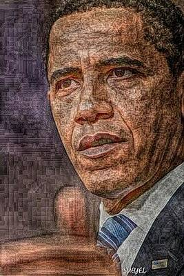 Digital Art - President Obama by Sueyel Grace