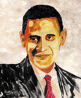 44th President Of The United States Of America - Barack Obama Original by Everett Spruill