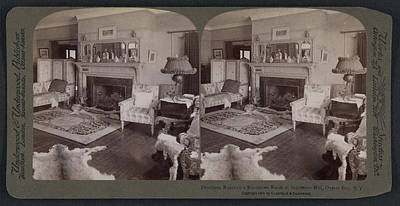 President Roosevelts Reception Room At Sagamore Hill Art Print by Litz Collection