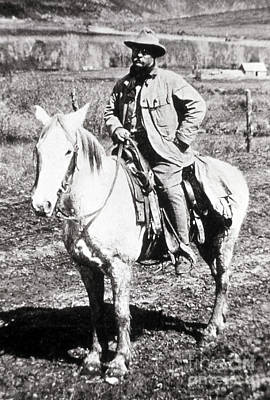 Photograph - President Theodore Roosevelt Riding by NPS Photo
