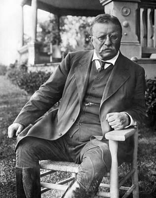 Theodore Photograph - President Theodore Roosevelt by Underwood Archives