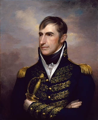 War 1812 Painting - President William Henry Harrison by War Is Hell Store