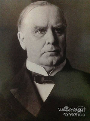 President William Mckinley 1897-1901 Print by Victor Arriaga