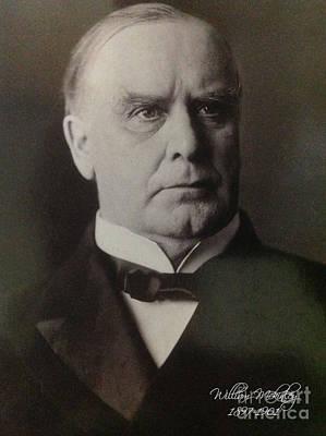 President William Mckinley 1897-1901 Art Print by Victor Arriaga