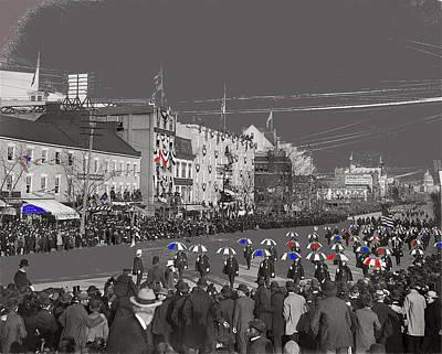President William Mckinley's Second Inaugural Parade Pennsylvania Avenue Washington D.c. March  1901 Art Print by David Lee Guss