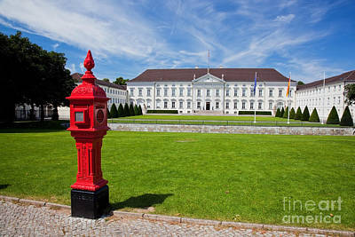 Prussian Blue Photograph - Presidential Palace Berlin Germany by Michal Bednarek