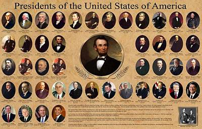 Presidents Of The United States Of America Art Print