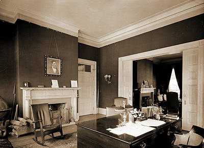 Washington D.c Drawing - Presidents Office, White House, The, White House Washington by Litz Collection